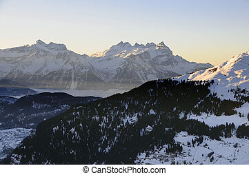 Dents du Midi and Verbier, Switzerland