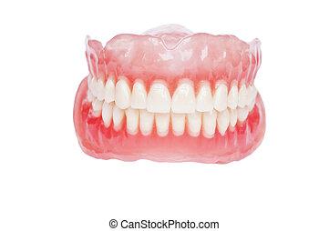 Denture close up