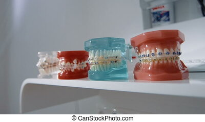Denture, close up - Set of false teeth