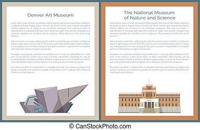 Denver Art DAM and National Museum Nature Science - Denver...