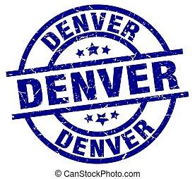 Denver blue round grunge stamp