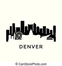 Denver city skyline.
