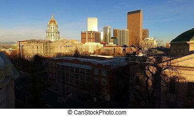 Denver Colorado Capital Building Downtown City Skyline -...