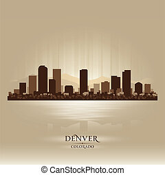 Denver Colorado skyline city silhouette