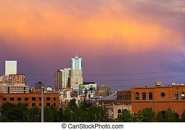 Denver Colorado Sunset
