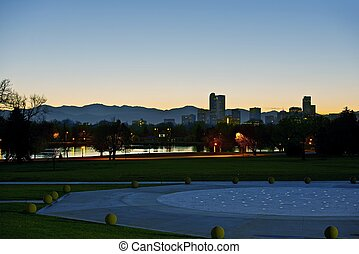 Denver Dusk. Denver Skyline, Colorado, United States.