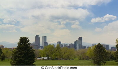 Denver Golf Course - Overlooking a golf course in downtown...