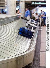 Denver International Airport on typical Sunday morning.