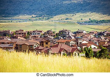 Denver Metro Residential Area. Colorado Architecture.