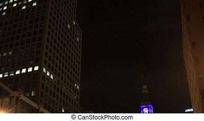 Denver nightlife time lapse tilt
