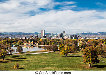 Denver Skyline in Autumn