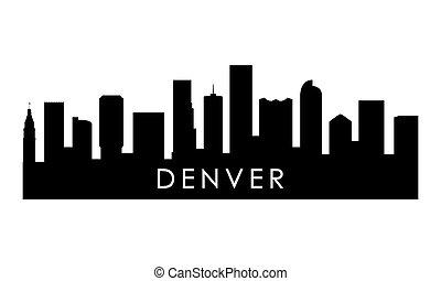 Denver skyline silhouette.