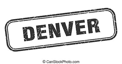 Denver stamp. Denver black grunge isolated sign