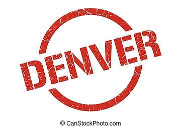 Denver stamp. Denver grunge round isolated sign
