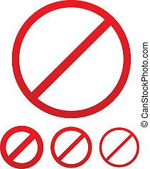 Deny Signs set