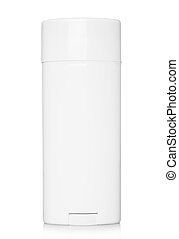 Deodorant container on a white background