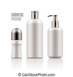 Deodorant, shampoo, body cream bottle - Set of empty...