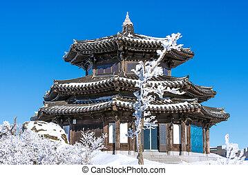 Deogyusan mountains in winter, Korea.