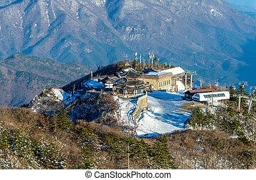 Deogyusan mountains in winter, South Korea.
