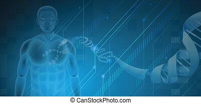 Deoxyribonucleic Acid - Illustration of the Human DNA
