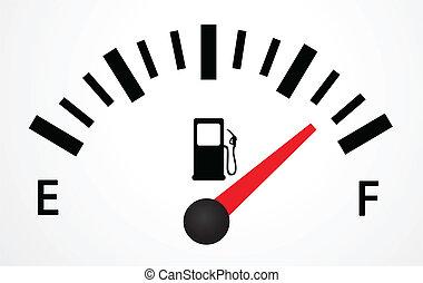 depósito de gasolina, ilustración