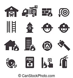 departamento de bombeiros, ícone