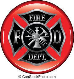 departamento de bomberos, butto, cruz maltesa