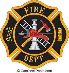 departamento de bomberos, cruz maltesa