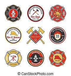 departamento de bomberos, emblemas