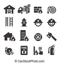 departamento de bomberos, icono