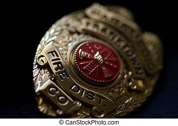 departamento de bomberos, insignia