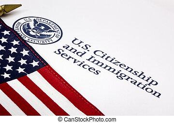 departamento, logotipo, eua., segurança, pátria