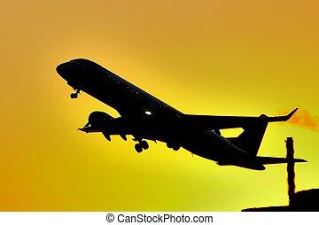 Departing Plane