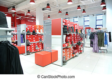department of outer clothing and foot-wear in store