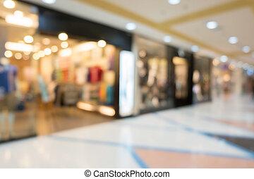 department store shopping mall, image blur defocused...