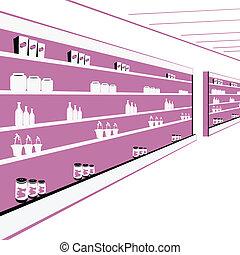 departmental store - supermarket