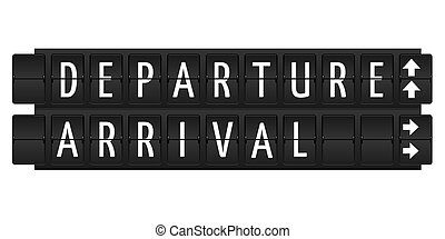 Departure and arrival text - departure and arrival text in...
