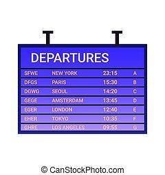 Departure Board Icon
