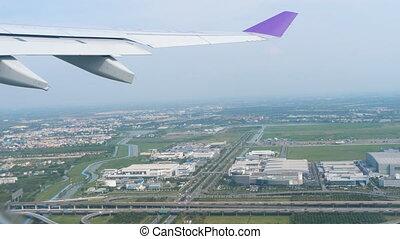 Departure from Bangkok - Aerial view Bangkok, capital of...