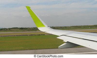 Departure from Bangkok - Begin accelerate before take-off,...