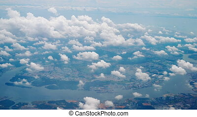 Departure from Singapore - Aerial view Singapore, view fom...