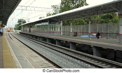 Departure from the station of the high-speed train swallow -...