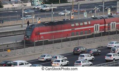 Departure of train