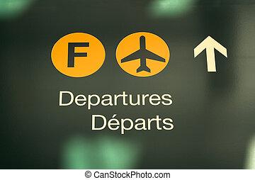 departure sign - airport departure sign