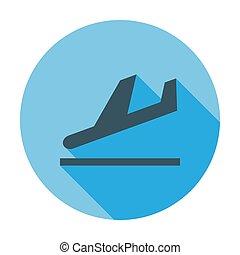 Departure. Single flat color icon. Vector illustration.