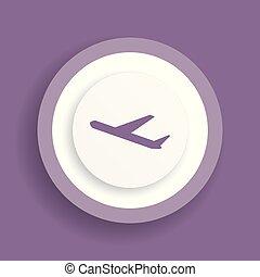 Departures vector icon