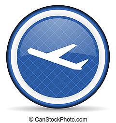 deparures blue icon plane sign