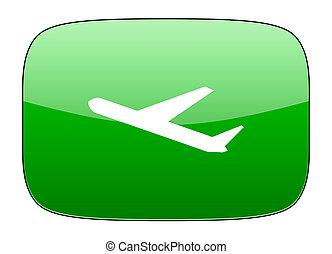 deparures green icon plane sign