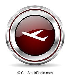 deparures icon chrome border round web button silver metallic pushbutton