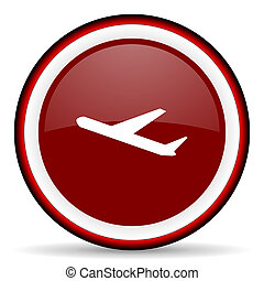 deparures round glossy icon, modern design web element